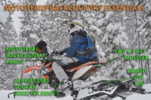 Snowbike video and 2 new backcountry specific Mototerre Products